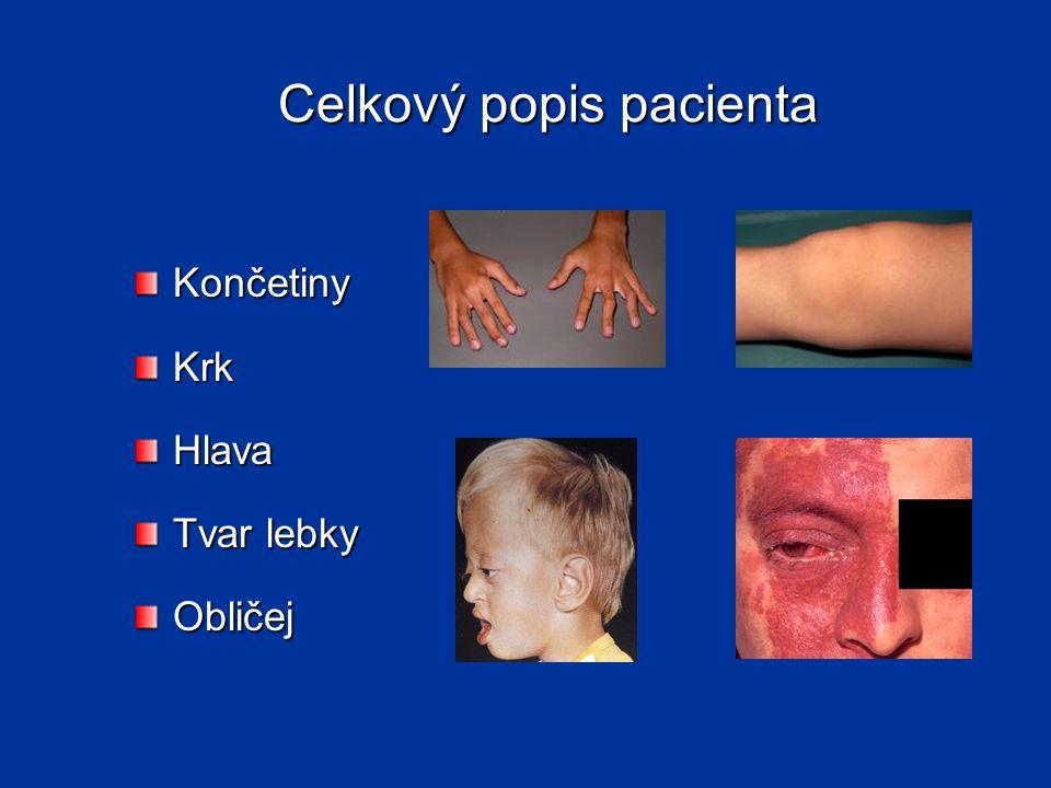 Celkový popis pacienta