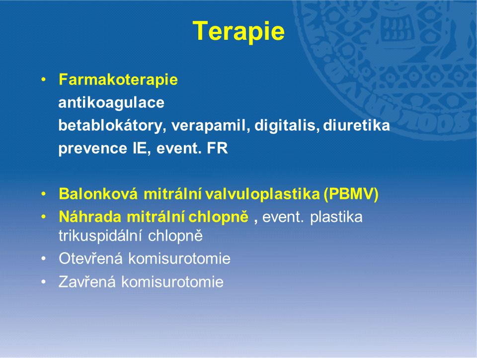 Terapie Farmakoterapie antikoagulace