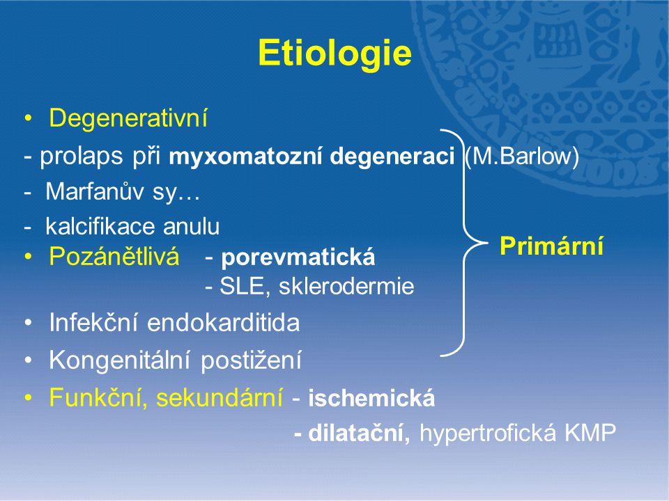 Etiologie Degenerativní