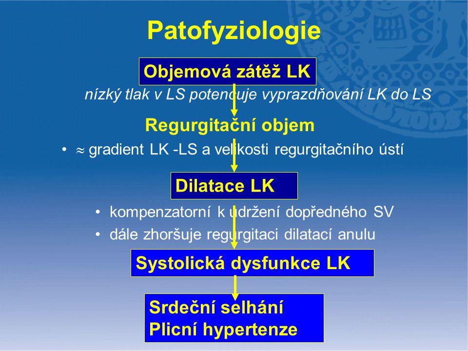  gradient LK -LS a velikosti regurgitačního ústí