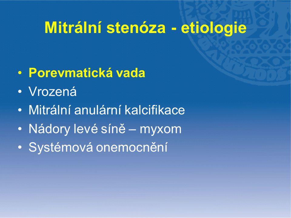 Mitrální stenóza - etiologie