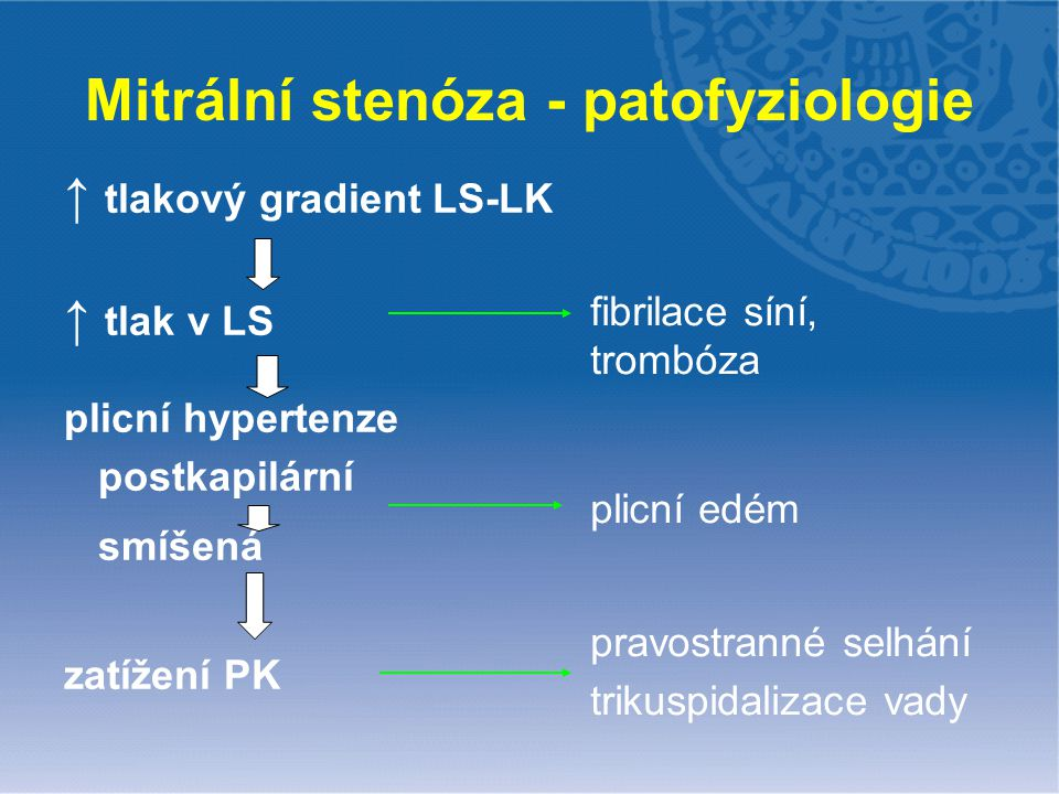 Mitrální stenóza - patofyziologie