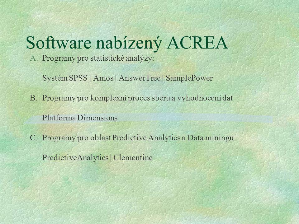 Software nabízený ACREA