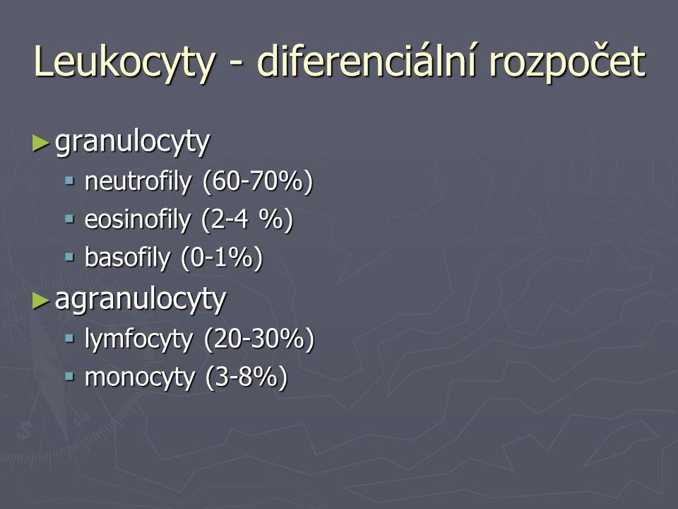 Leukocyty - diferenciální rozpočet