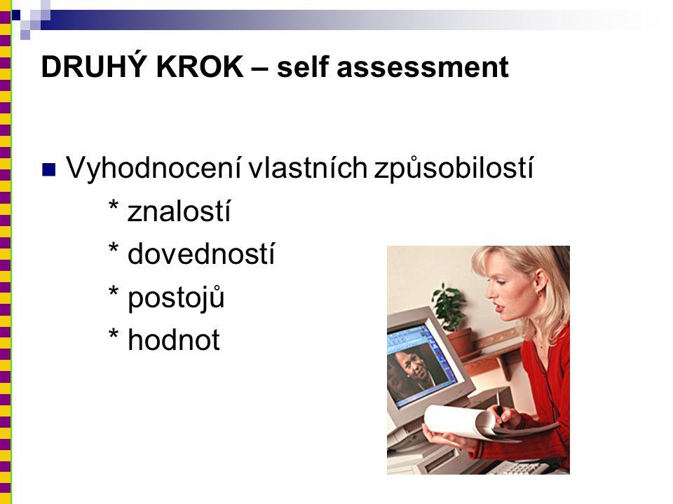 DRUHÝ KROK – self assessment