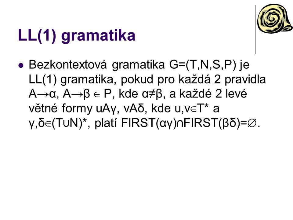 LL(1) gramatika