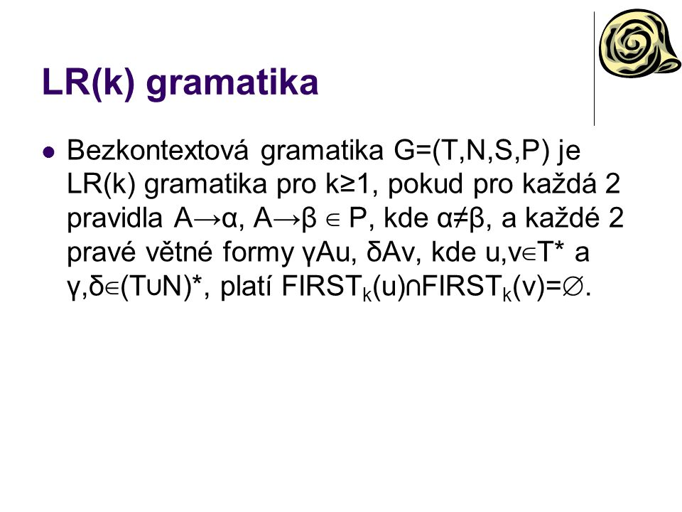 LR(k) gramatika