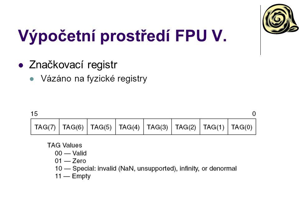 Výpočetní prostředí FPU V.