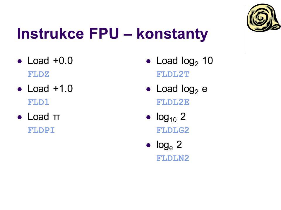Instrukce FPU – konstanty