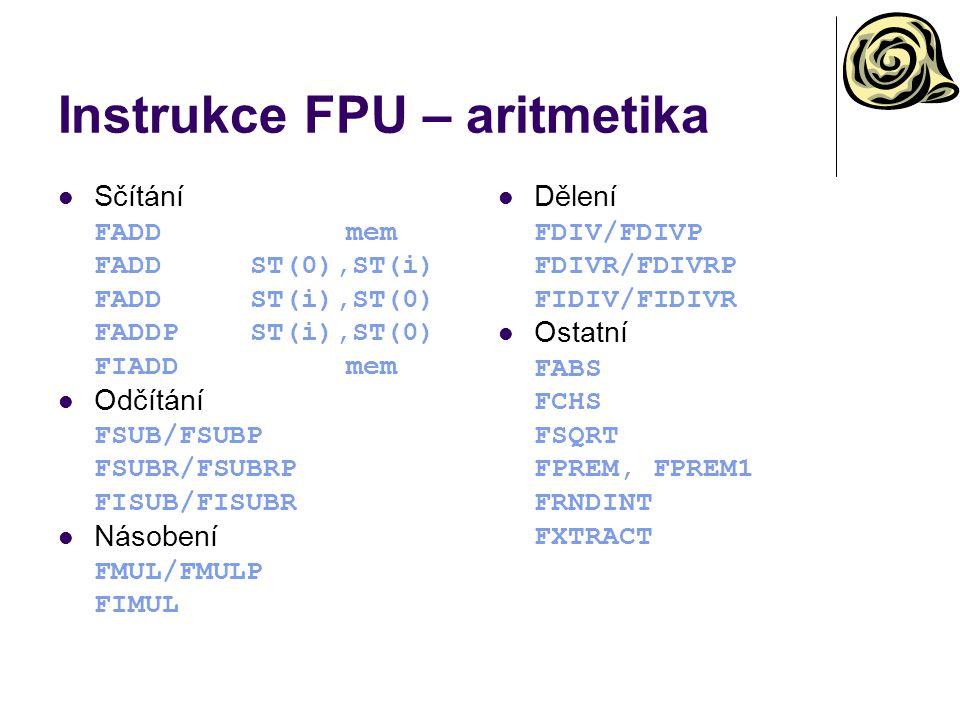 Instrukce FPU – aritmetika