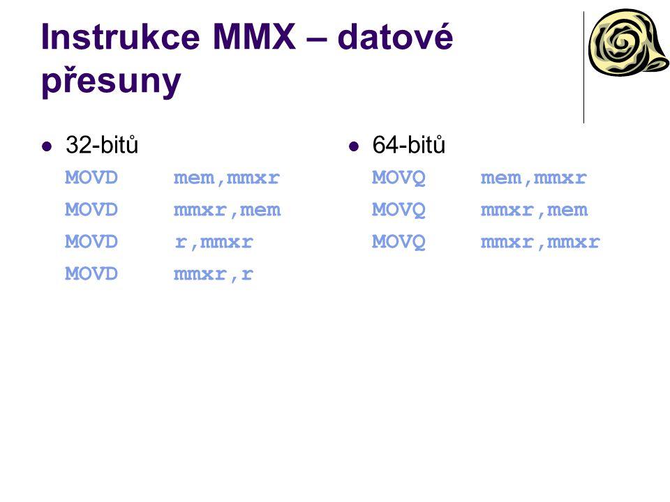 Instrukce MMX – datové přesuny