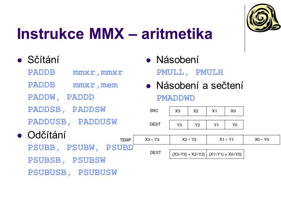 Instrukce MMX – aritmetika