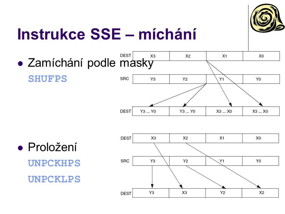 Instrukce SSE – míchání