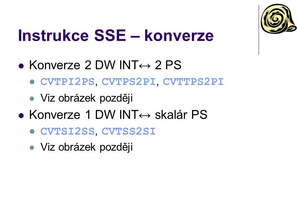 Instrukce SSE – konverze