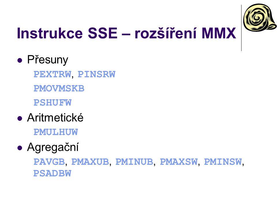 Instrukce SSE – rozšíření MMX