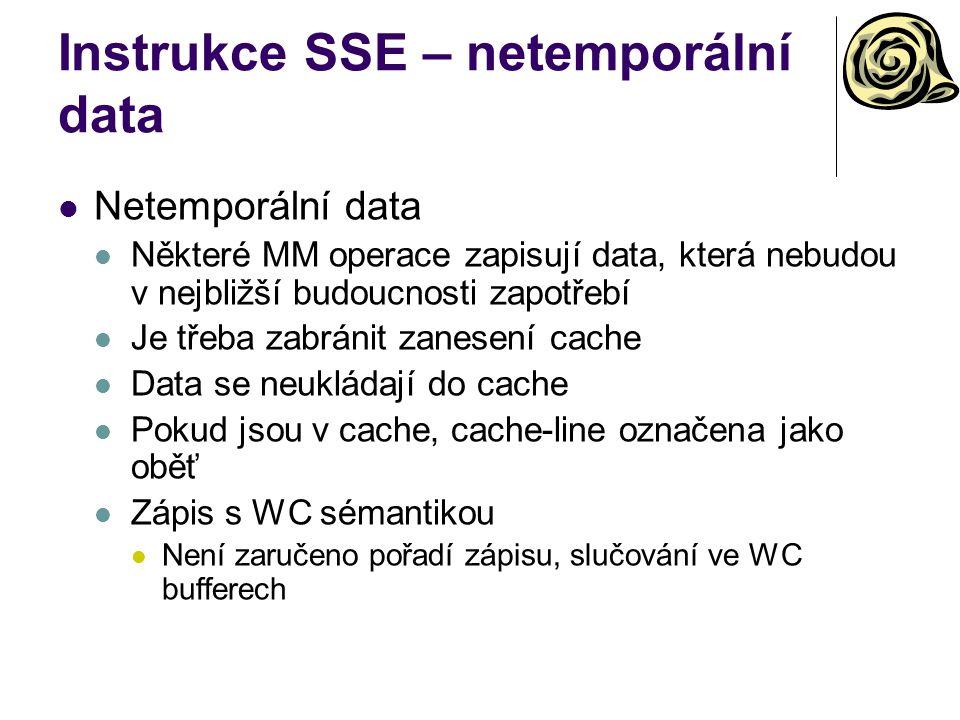 Instrukce SSE – netemporální data