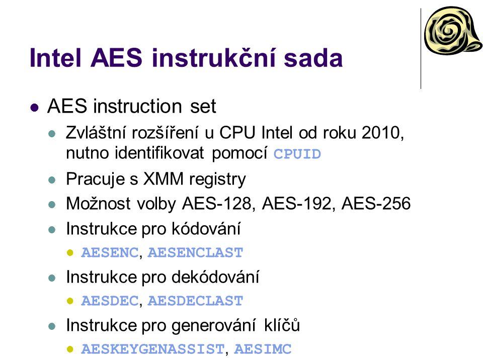 Intel AES instrukční sada