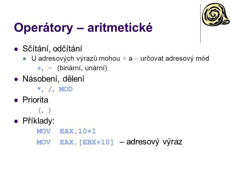 Operátory – aritmetické
