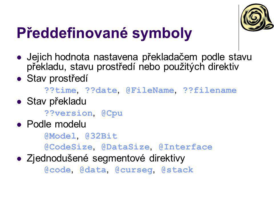Předdefinované symboly
