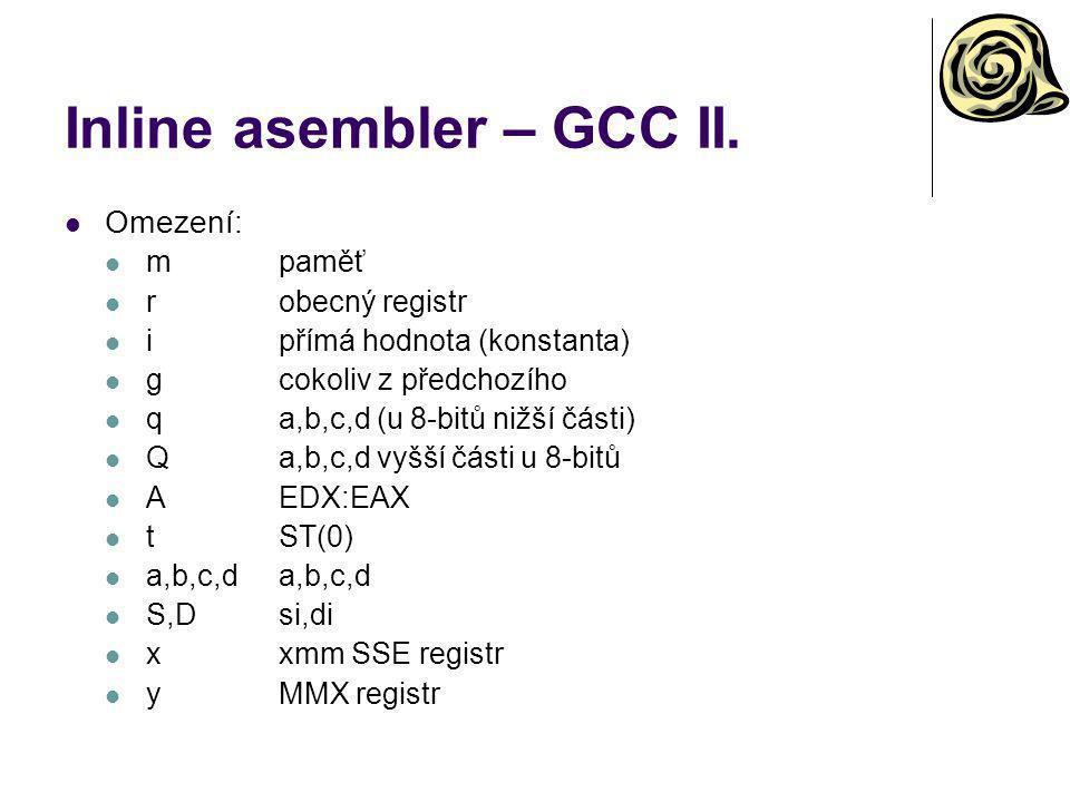 Inline asembler – GCC II.