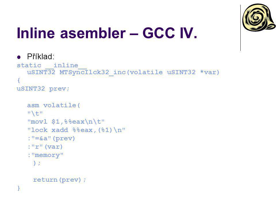 Inline asembler – GCC IV.