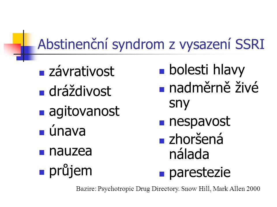 Abstinenční syndrom z vysazení SSRI