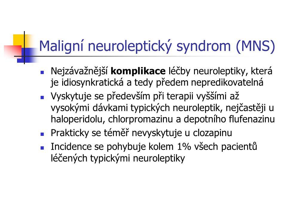 Maligní neuroleptický syndrom (MNS)