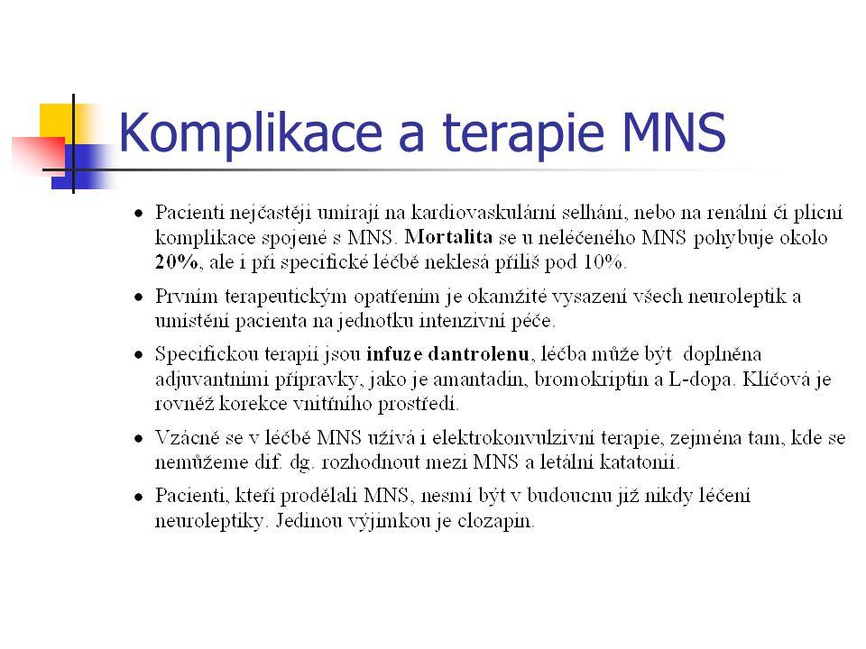 Komplikace a terapie MNS
