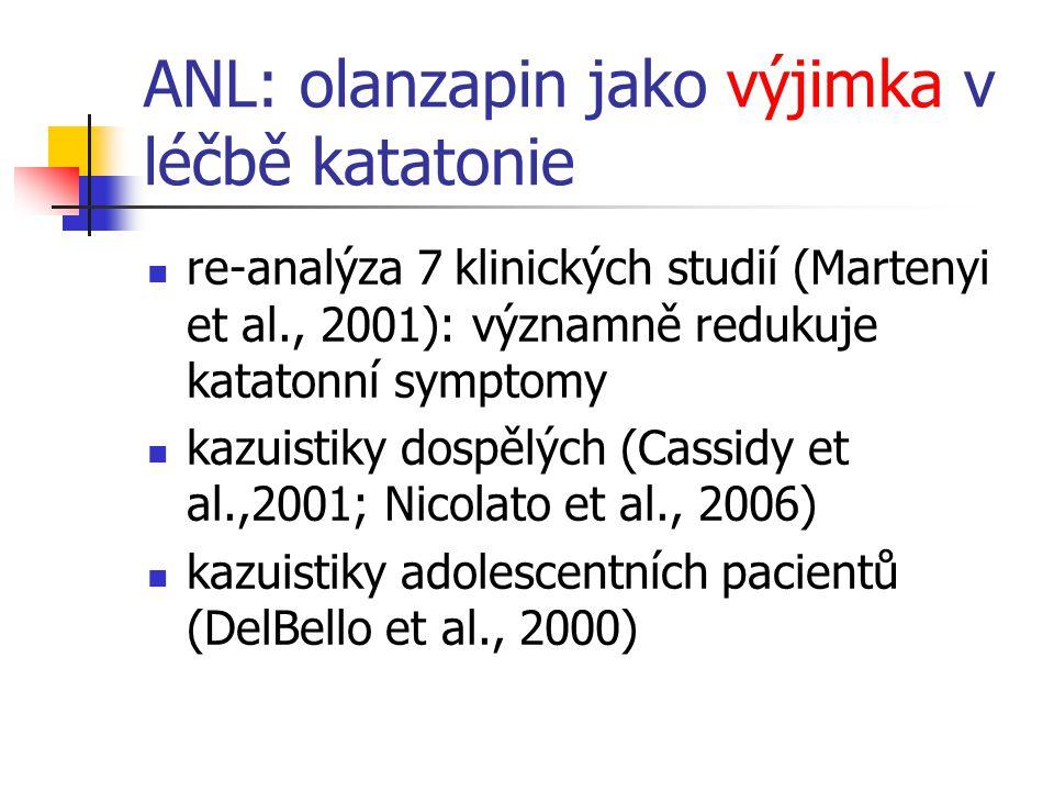 ANL: olanzapin jako výjimka v léčbě katatonie