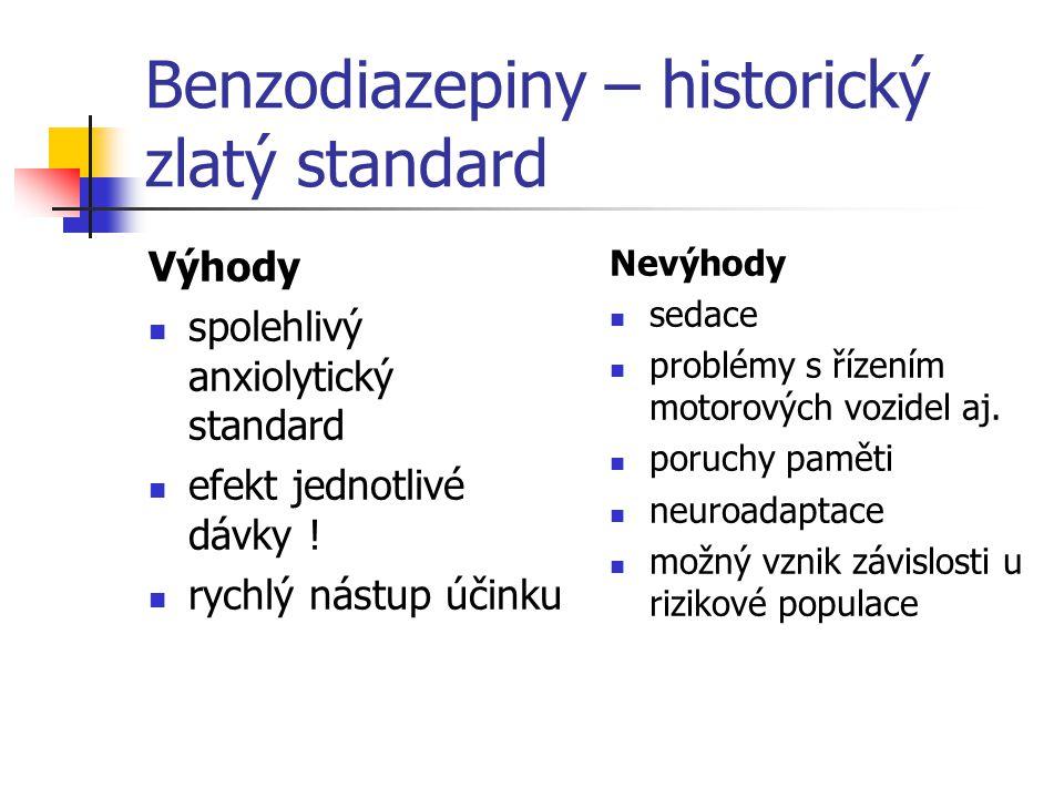 Benzodiazepiny – historický zlatý standard