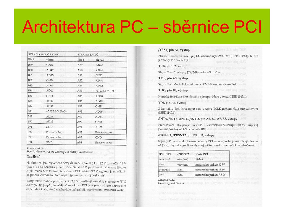 Architektura PC – sběrnice PCI