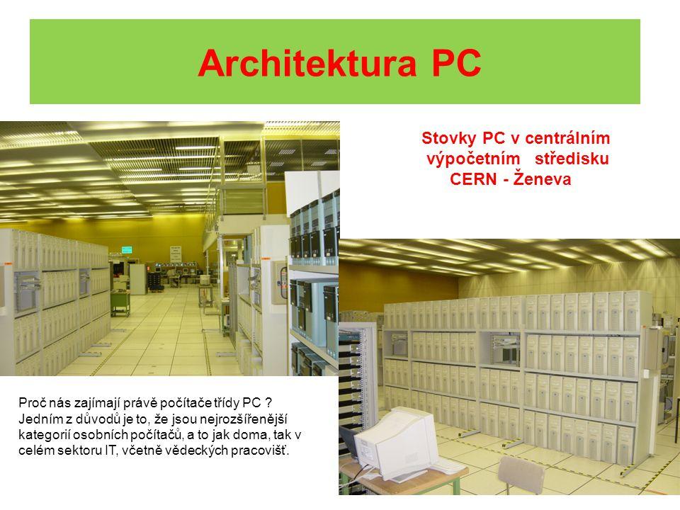 Architektura PC Stovky PC v centrálním výpočetním středisku