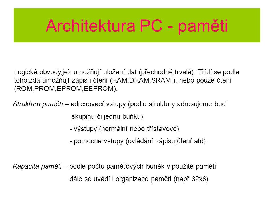 Architektura PC - paměti