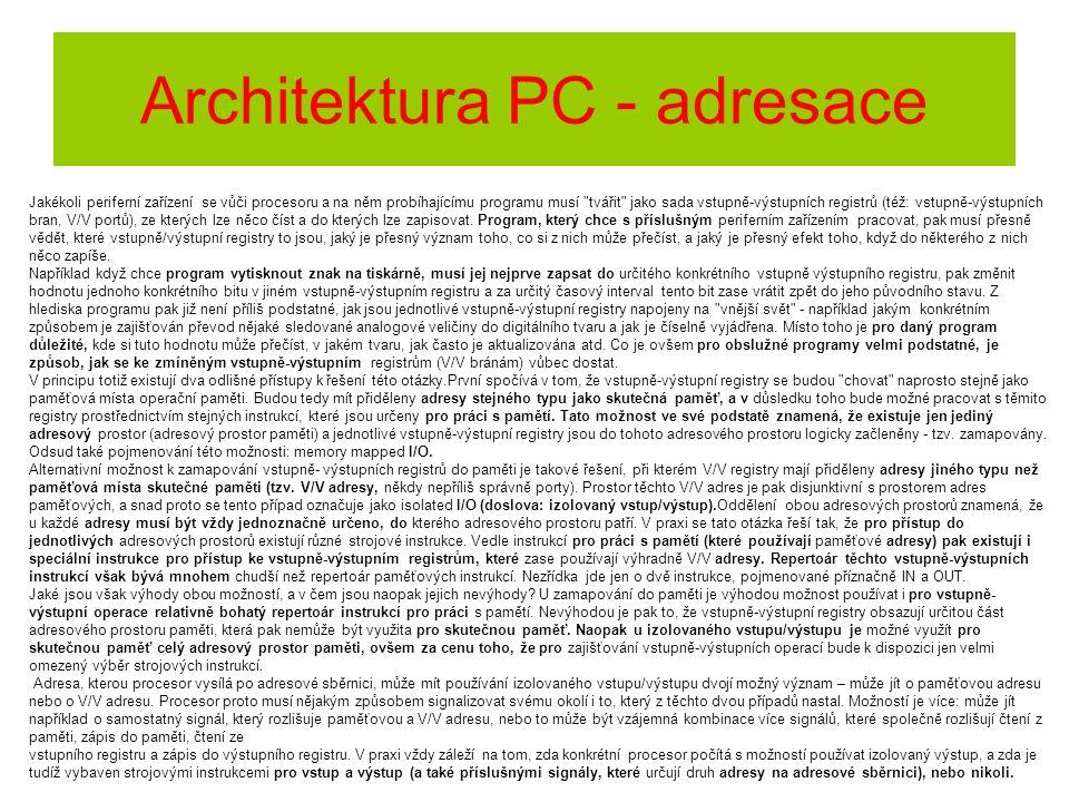 Architektura PC - adresace