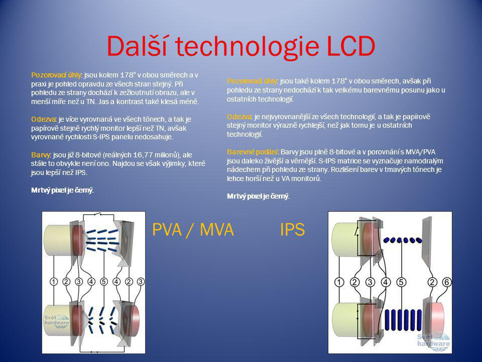 Další technologie LCD PVA / MVA IPS