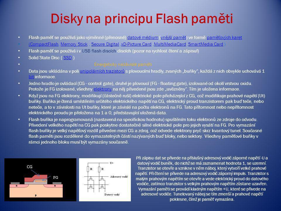 Disky na principu Flash paměti