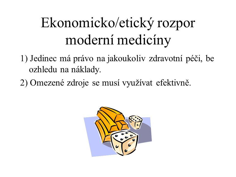 Ekonomicko/etický rozpor moderní medicíny