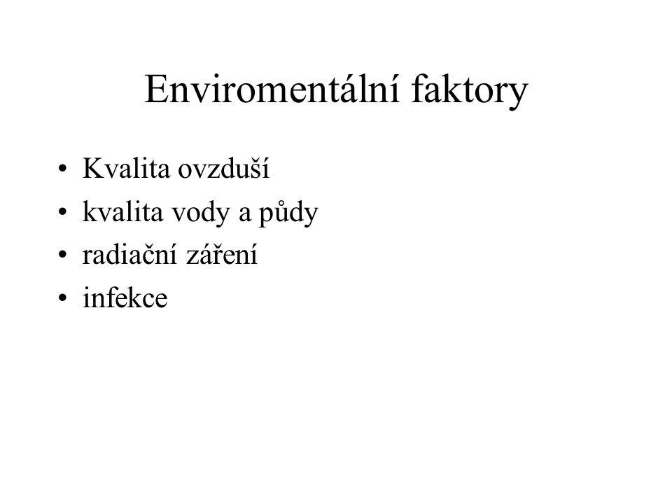 Enviromentální faktory