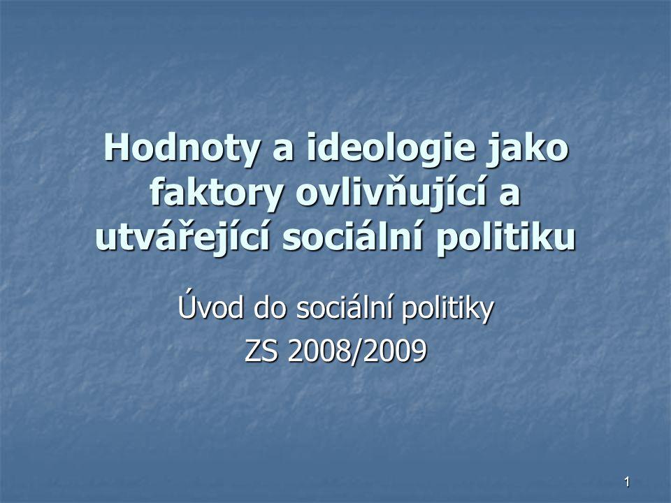 Úvod do sociální politiky ZS 2008/2009