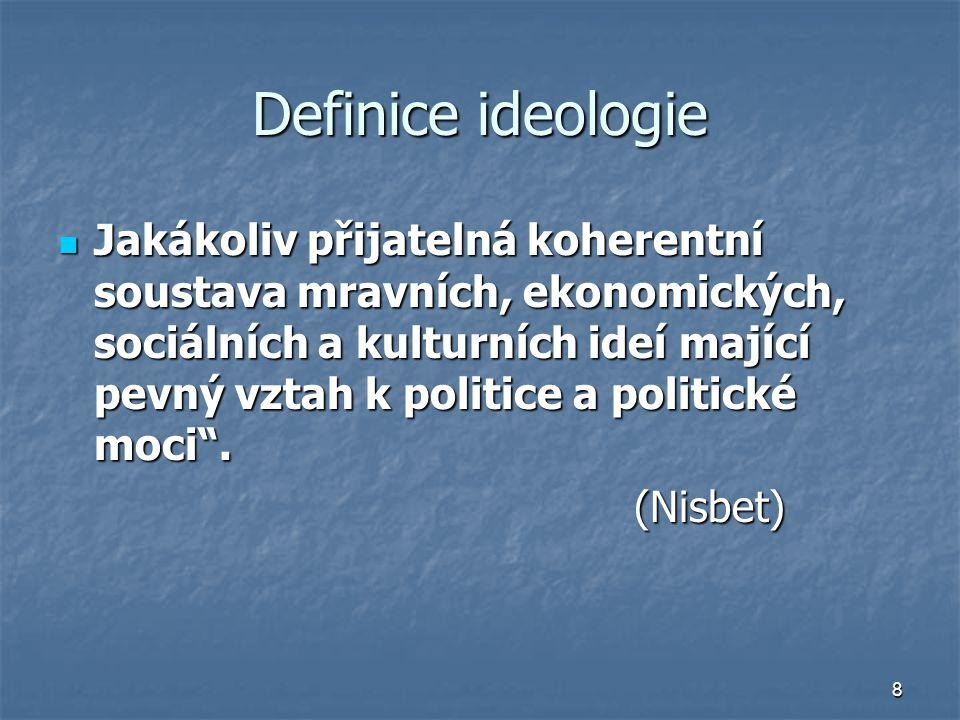 Definice ideologie