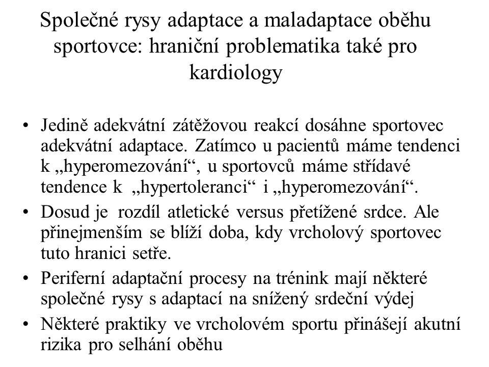 Společné rysy adaptace a maladaptace oběhu sportovce: hraniční problematika také pro kardiology