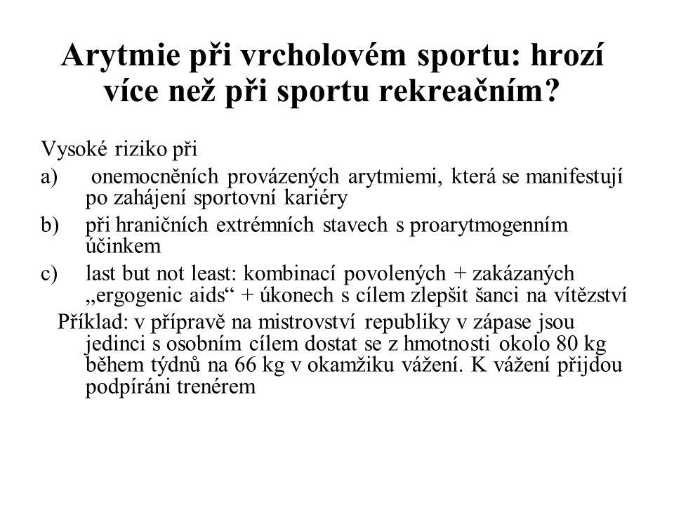 Arytmie při vrcholovém sportu: hrozí více než při sportu rekreačním