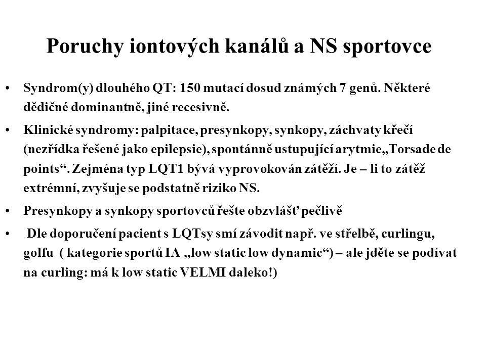 Poruchy iontových kanálů a NS sportovce