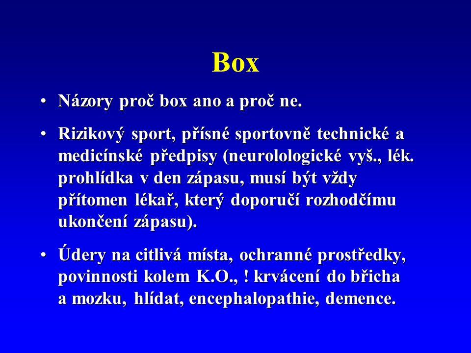 Box Názory proč box ano a proč ne.