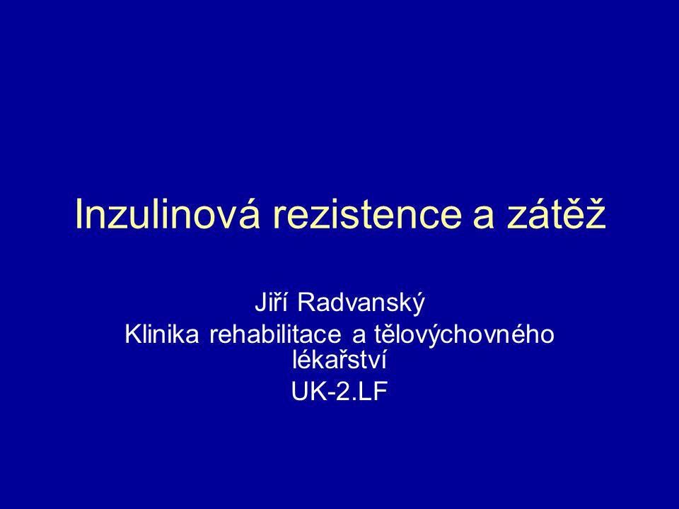 Inzulinová rezistence a zátěž