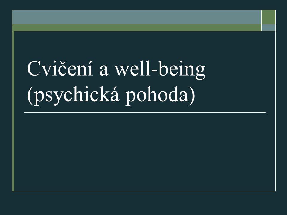 Cvičení a well-being (psychická pohoda)