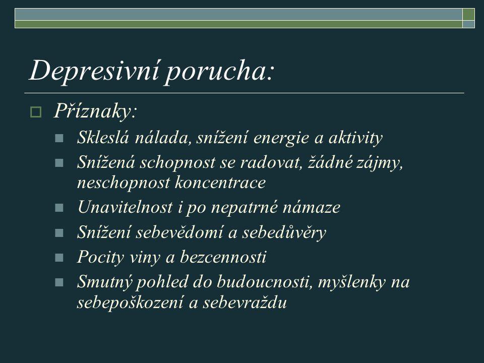 Depresivní porucha: Příznaky:
