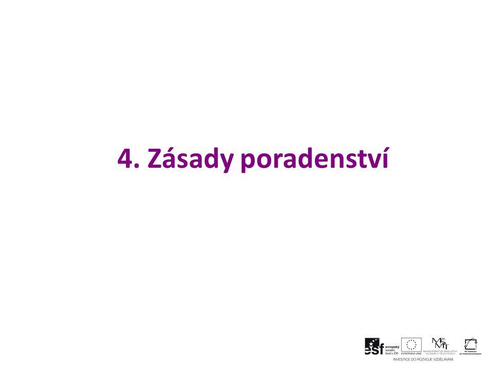 4. Zásady poradenství