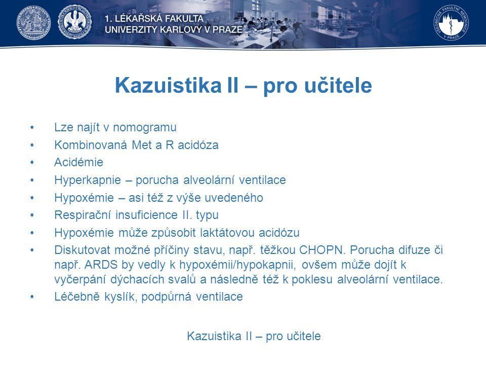 Kazuistika II – pro učitele