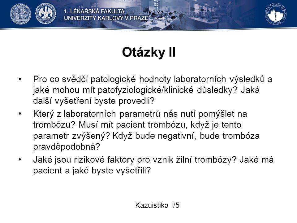 Otázky II